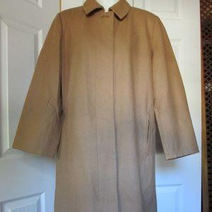 Harve' Benard Camel Dress Coat Wool Blend Size 12